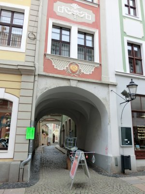 Zugang Schwarze Straße von der Brüderstraßer aus.
