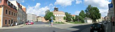 Panorama-Blick Sonnenplan, Kaisertrutz, Demianiplatz hin zum Karstadt-Kaufhaus